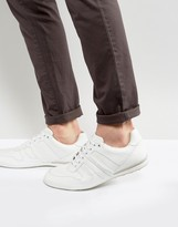 BOSS GREEN By Hugo Boss Smooth Leather Sneakers White