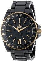 Vivienne Westwood Unisex VV048GDBK Gold-Tone and Black Ceramic Bracelet Watch