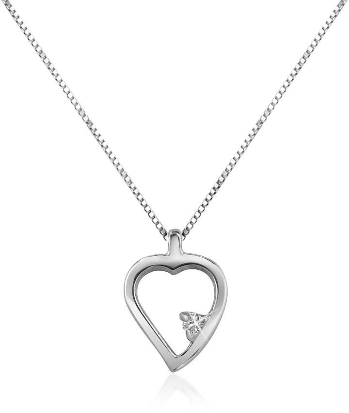 Forzieri 0.015 ct Diamond Heart 18K Gold Necklace