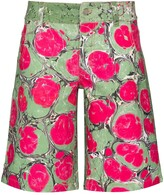 Thumbnail for your product : Chopova Lowena Marble-Effect Knee-Length Shorts