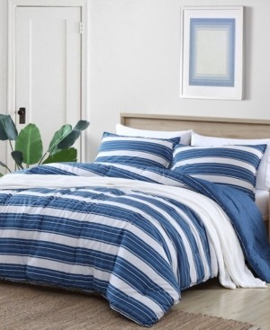 Nautica Vintage Crew Stripe Comforter Set, Full/Queen Bedding