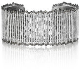 Coomi Spring Sterling Silver Cuff with Diamonds