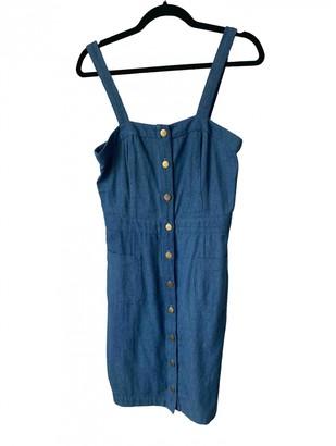 L'Wren Scott Blue Cotton Dress for Women