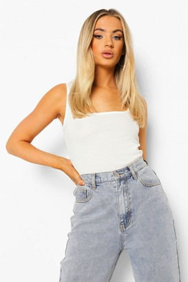 boohoo Basic Rib Square Neck Cami