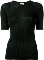 Lemaire ribbed knitted T-shirt - women - Wool - L