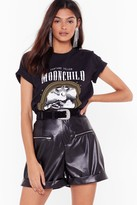 Nasty Gal Womens Leather Gonna Change Faux Leather High-Waisted Shorts - black - 6