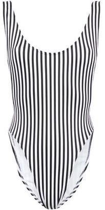 Norma Kamali Striped Swimsuit