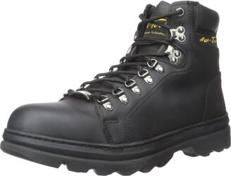 "AdTec Ad Tec Mens 6"" Leather Hiker Boots Steel Toe Work Boot Construction (Black Numeric_10)"