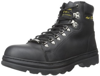 "AdTec Ad Tec Mens 6"" Leather Hiker Boots Steel Toe Work Boot Construction Black"