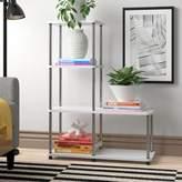 Zipcode Design Donavan Step Bookcase Zipcode Design Finish: Stainless steel/White