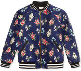 Monteau Quilted Floral Bomber Jacket, Big Girls (7-16)