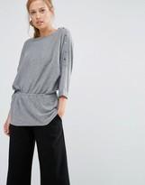 Warehouse Drawstring Waist Sweater