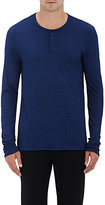 Barneys New York MEN'S HEATHERED COTTON-BLEND HENLEY