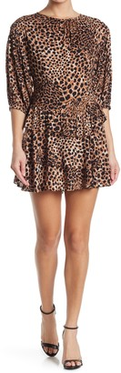 Collective Concepts Leopard Tiered Mini Dress