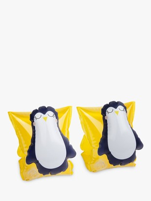 Sunnylife Sunnykids Children's Penguin Float Bands, Yellow/Black