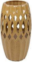 Privilege International 77104 Pierced Ceramic Vase, Large
