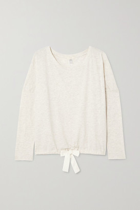Eberjey Heather Cotton-blend Jersey Pajama Top - Beige