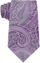Geoffrey Beene Men's Platinum Paisley Tie