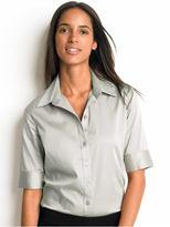 Banana Republic Elbow-sleeve stretch shirt