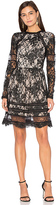 Alice + Olivia Janae Lace Mini Dress in Black. - size 0 (also in )