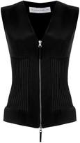 Gloria Coelho knitted zip-up vest