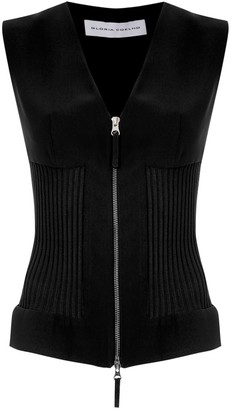 Gloria Coelho Knitted Zip-Up Vest