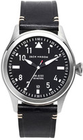 Jack Mason Brand Men&s Brand Aviation Italian Leather Strap 42mm Watch