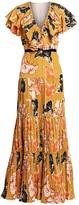 Johanna Ortiz Ruffle Floral Maxi Dress
