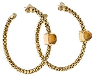 Chimento Citrine Stretch Hoop Earrings