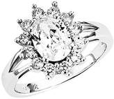 Amor Women's Ring 925 Sterling Silver Rhodium-Plated Zirconia White 52 (16.6) silver
