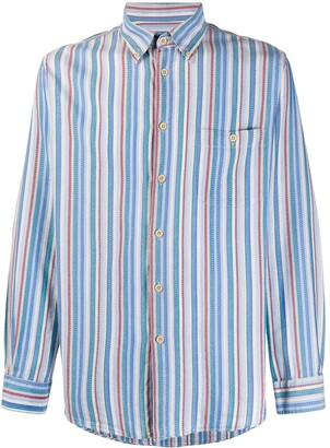 Missoni Pre Owned 1990s Pinstriped Button Down Shirt