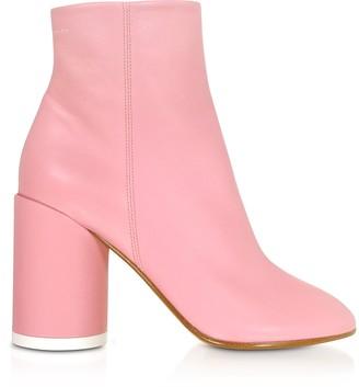 Mm6 Maison Martin Margiela Peony Pink Soft Nappa Leather Boots