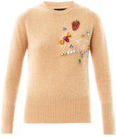 House of Holland Embellished angora sweater