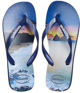 Havaianas Hype Flip Flops (White) Men's Sandals