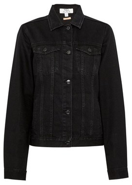 Dorothy Perkins Womens Dp Tall Black Denim Jacket, Black