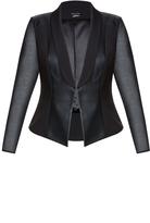 City Chic Sharp And Sheer Jacket