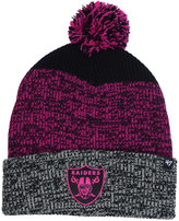 '47 Oakland Raiders Static Cuff Pom Knit Hat