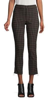 Rafaella Plaid Skinny Ankle Pants
