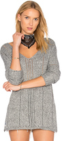 Amuse Society Rickerson Sweater in Gray. - size L (also in M,S,XS)