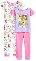 4-Pc. Princesses Cotton Pajama Set, Toddler Girls (2T-5T)