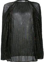 Rosetta Getty oversize plisse turtleneck top