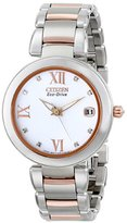 Citizen Women's EO1116-57A Marne Signature Eco-Drive Diamond Dial Two Tone Watch