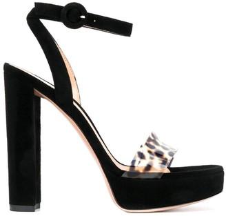 Gianvito Rossi Leopard Strap Sandals