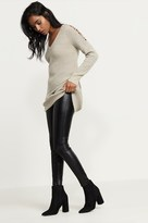 Dynamite Faux Leather Legging With Zippers