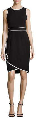 Calvin Klein Asymmetric Sheath Dress