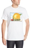 FEA Men's Allman Brothers Band Eat A Peach Distressed Double Sided T-Shirt, White, X-Large