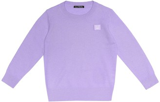 Acne Studios Kids Mini Face wool sweater