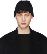 Lemaire Navy Ribbed Beanie
