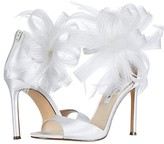 Nina Dalila (Sky Blue Crystal Satin Mesh/Feathers) Women's Shoes
