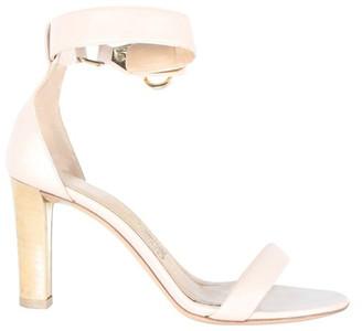 Salvatore Ferragamo Nude Leather Open Toes Heels Sandals Size 38